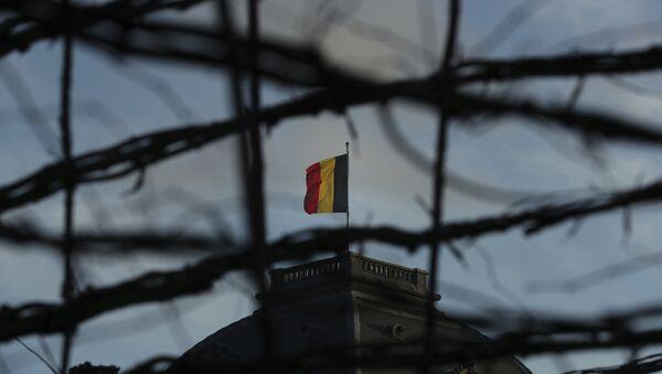 Nacionalna zastava na zgradi Vlade Belgije. - Sputnik Srbija