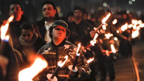 Марш бугарских националиста у центру Софије - Sputnik Србија