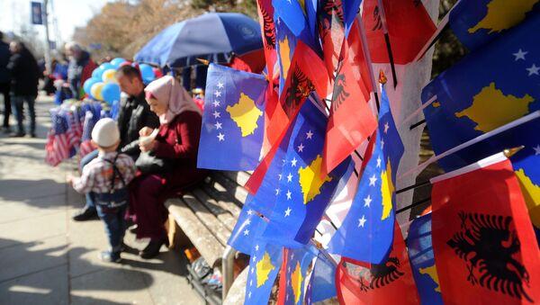 Заставе Албаније и Косова у Приштини - Sputnik Србија