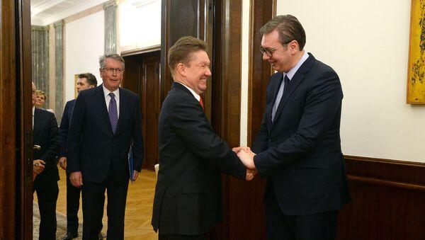 Алексеј Милер и Александар Вучић - Sputnik Србија