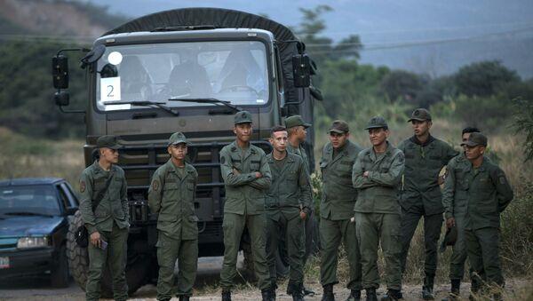 Војска Венецуеле на граници са Колумбијом - Sputnik Србија