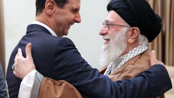 Башар Асад и ајатолах Ал Хамнеј у Техерану. - Sputnik Србија