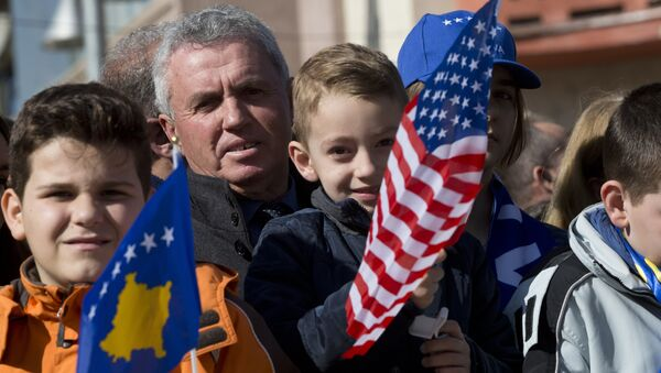 Прослава у Приштини 11. годишњице од једностраног проглашења независности такозваног Косова - Sputnik Србија