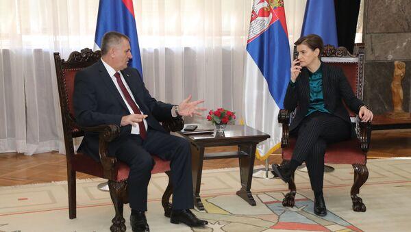 Ана Брнабић и Радован Вишковић - Sputnik Србија