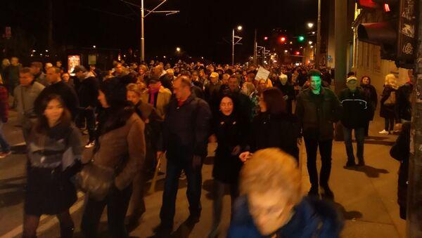 Protest Jedan od pet miliona u Beogradu - Sputnik Srbija