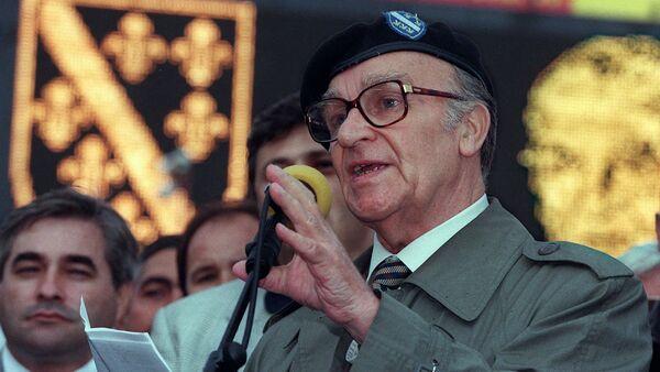 Alija Izetbegović na bosanskom festivalu u Gelzenkirhenu, Nemačka 24. avgusta 1996. - Sputnik Srbija