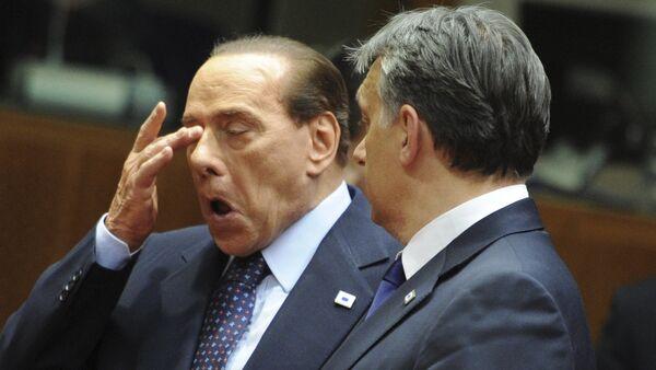 Силвио Берлускони и Виктор Орбан - Sputnik Србија