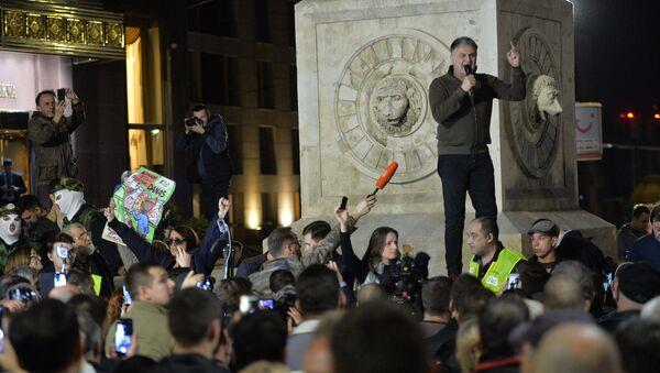Branislav Lečić na protestu u Beogradu - Sputnik Srbija