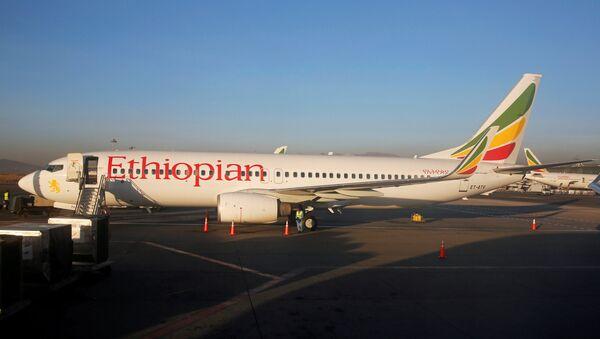 Авион Боинг 737 компаније Етиопиан ерлајнс на аеродрому у Адис Абеби - Sputnik Србија