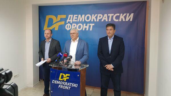 Konferencija za medije Demokratskog fronta - Sputnik Srbija