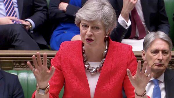 Britanska premijerka Tereza Mej govori u Parlamentu, 12 . mart 2019 - Sputnik Srbija