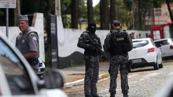 Бразилска полиција на лицу места у Сао Паолу - Sputnik Србија