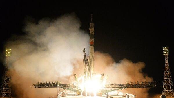 Лансирање брода са посадом Сојуз МС 12 на космодрому Бајконур - Sputnik Србија
