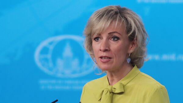 Portparol Ministarstva spoljnih poslova Rusije Marija Zaharova na redovnom brifingu - Sputnik Srbija