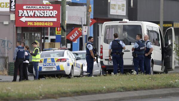 Policija je blokirala ulice nakon pucnjave u džamiji Al Nur, Novi Zeland, 15. mart - Sputnik Srbija