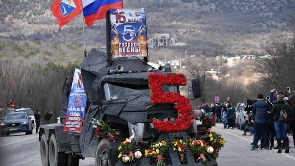 Auto-parada moto-kluba Noćni vukovi na obeležavanju godišnjice ujedinjenja Krima sa Rusijom - Sputnik Srbija