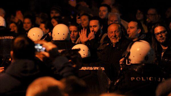 Upad demonstranata u zgradu RTS-a - Sputnik Srbija