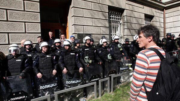 Blokada zgrade Predsedništva - Sputnik Srbija