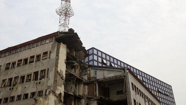 Зграда РТС-а оштећена у НАТО бомбардовању - Sputnik Србија