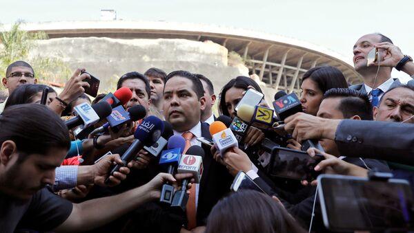 Опозициони посланик Венецуеле Серхио Вергара обраћа се медијима у Каракасу - Sputnik Србија
