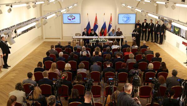 Potpisivanje sporazuma u Ruskom domu - Sputnik Srbija
