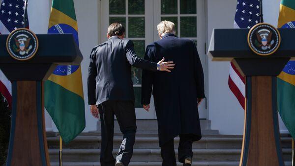 Žair Bolsonaro i Donald Tramp - Sputnik Srbija