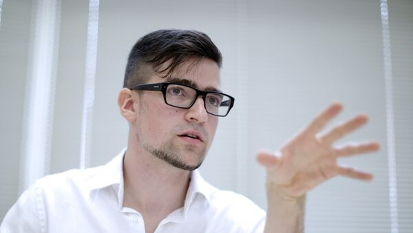 Vođa desničarsko-ekstremističkog pokreta Identitaristi Martin Selner - Sputnik Srbija