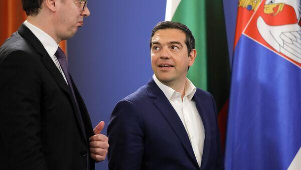 Александар Вучић и Алексис Ципрас - Sputnik Србија