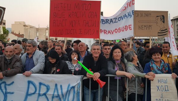 "Sedmi građanski protest ""Odupri se — 97.000"" u Podgorici - Sputnik Srbija"