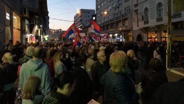 "Protest ""Jedan od pet miliona"" u centru Beograda - Sputnik Srbija"