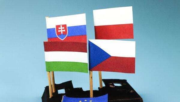 Zastave država-članica Višegradske grupe - Sputnik Srbija