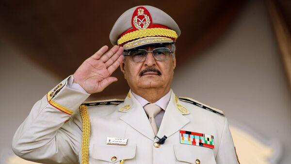 Komandant Libijske nacionalne armije maršal Halifa Haftar - Sputnik Srbija