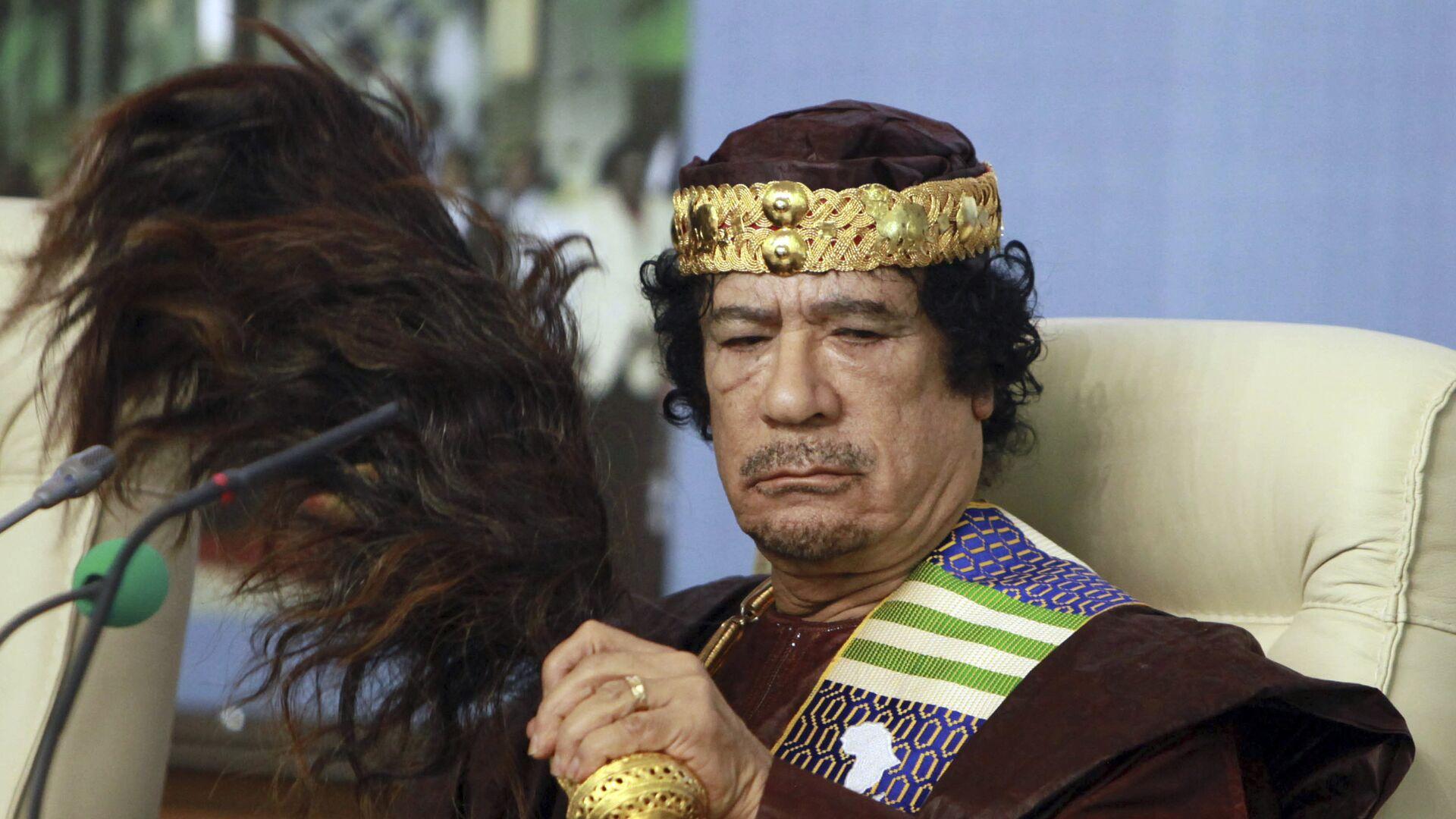 Bivši libijski lider Muamer Gadafi - Sputnik Srbija, 1920, 06.09.2021
