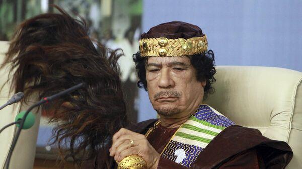 Bivši libijski lider Muamer Gadafi - Sputnik Srbija