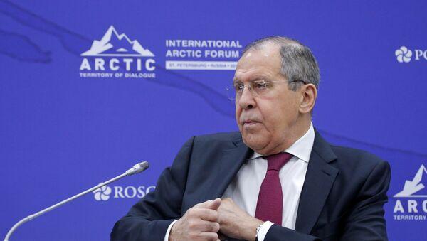 Ministar spoljnih poslova Rusije Sergej Lavrov na forumu Arktik - teorija dijaloga u Sankt Peterburgu - Sputnik Srbija