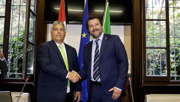 Viktor Orban i Mateo Salvini - Sputnik Srbija