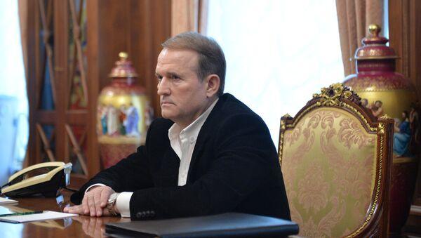 Lider pokreta Ukrajinski izbor Viktor Medvedčuk - Sputnik Srbija