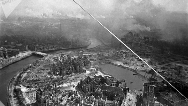 Берлинска битка, поглед са авиона - Sputnik Србија