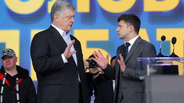 Дебата председничких кандидата у Украјини. Петро Порошенко и Владимир Зеленски - Sputnik Србија