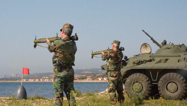 Руска војска у сиријској луци Тартус - Sputnik Србија
