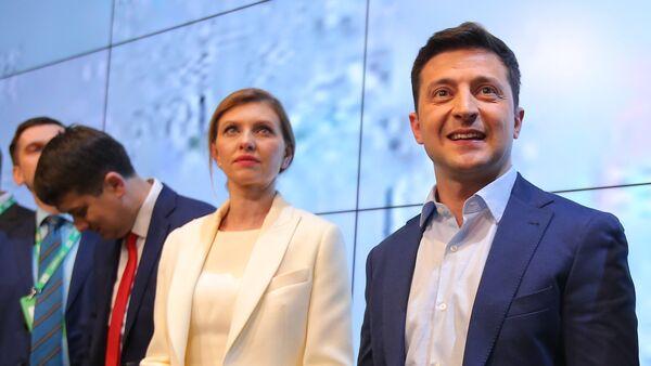 Јелена и Владимир Зеленски - Sputnik Србија