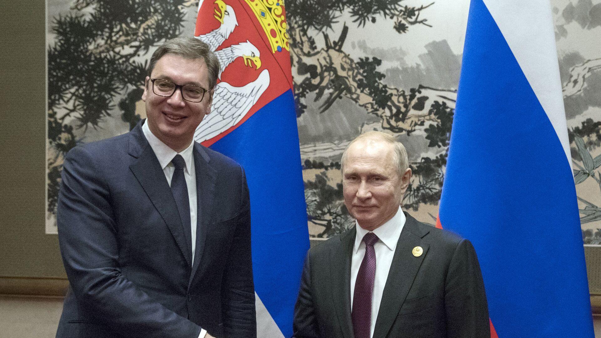 Aleksandar Vučić i Vladimir Putin - Sputnik Srbija, 1920, 07.10.2021