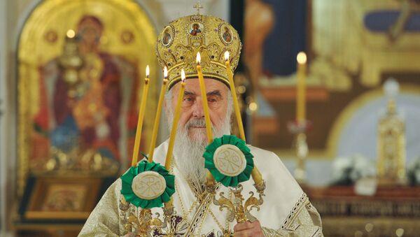 Патријарх Иринеј на ускршњој литургији у Храму Светог Саве - Sputnik Србија