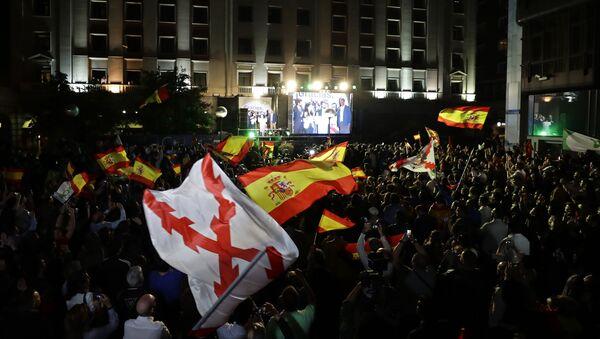 Pristalice partije VOKS slave na ulicama Madrida - Sputnik Srbija
