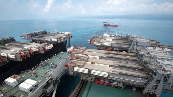 Радови на изградњи гасовода Турски ток на Црном мору - Sputnik Србија
