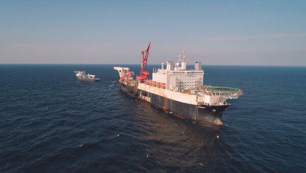 Брод за полагање цеви гасовода Солитер  - Sputnik Србија