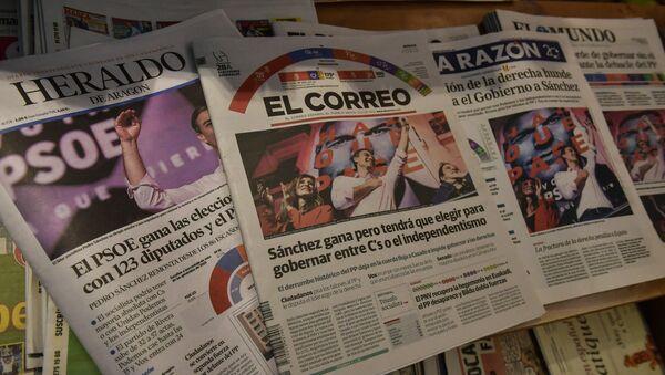 Španska štampa posle parlamentarnih izbora - Sputnik Srbija