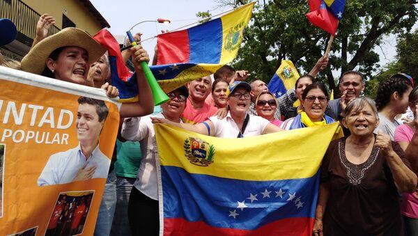 Madurove pristalice na ulicama Karakasa - Sputnik Srbija