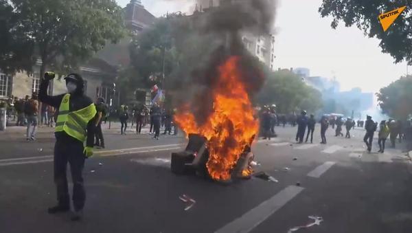 Prvomajski protest u Parizu - Sputnik Srbija