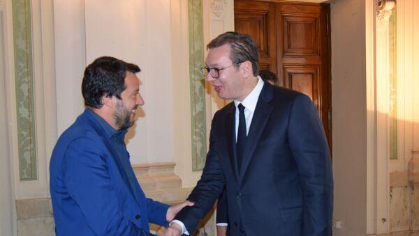 Mateo Salvini i Aleksandar Vučić - Sputnik Srbija